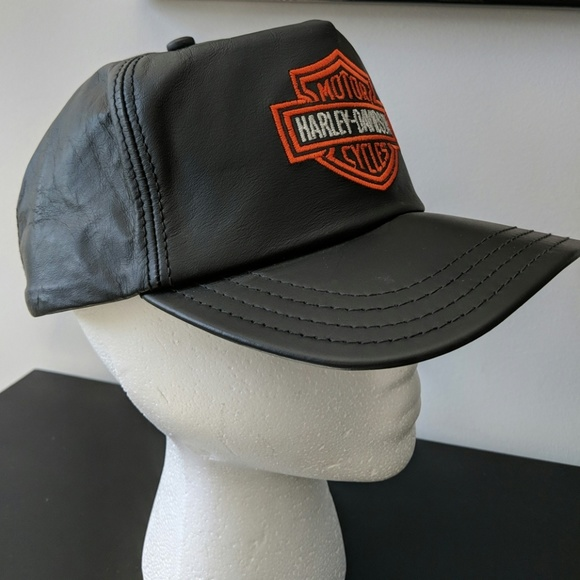 Harley-Davidson Other - Harley-Davidson leather baseball hat 772fcd81e02